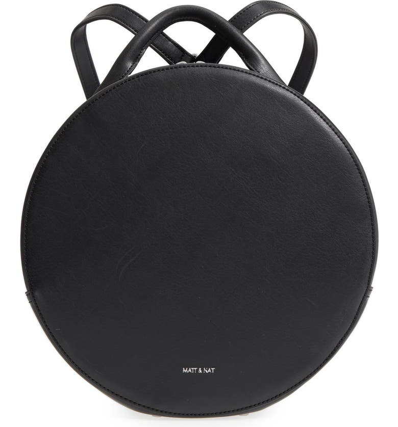 MATT & NAT Kiara Faux Leather Circle Backpack, Main, color, 001