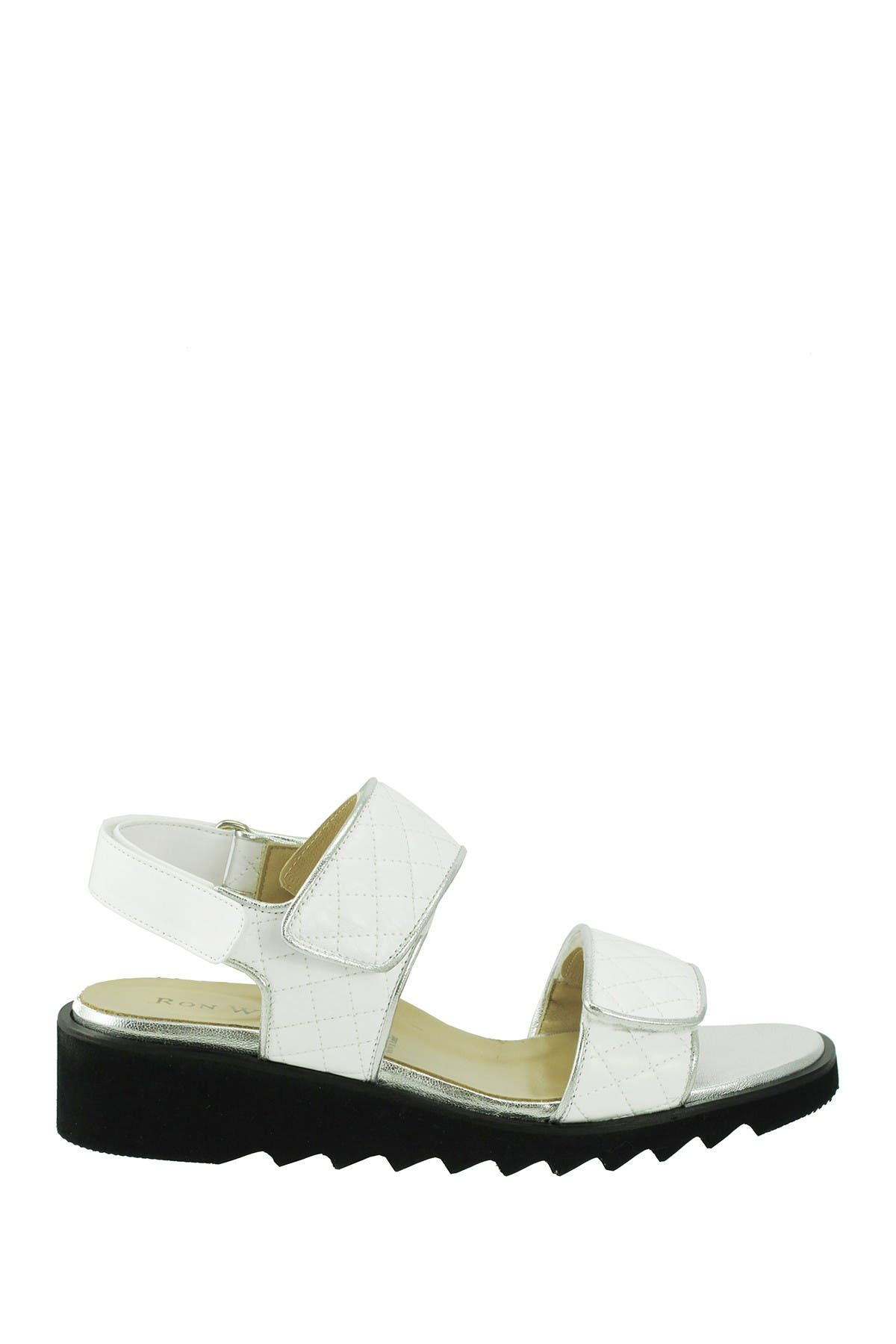 Image of RON WHITE Adrena Quilted Slingback Sandal