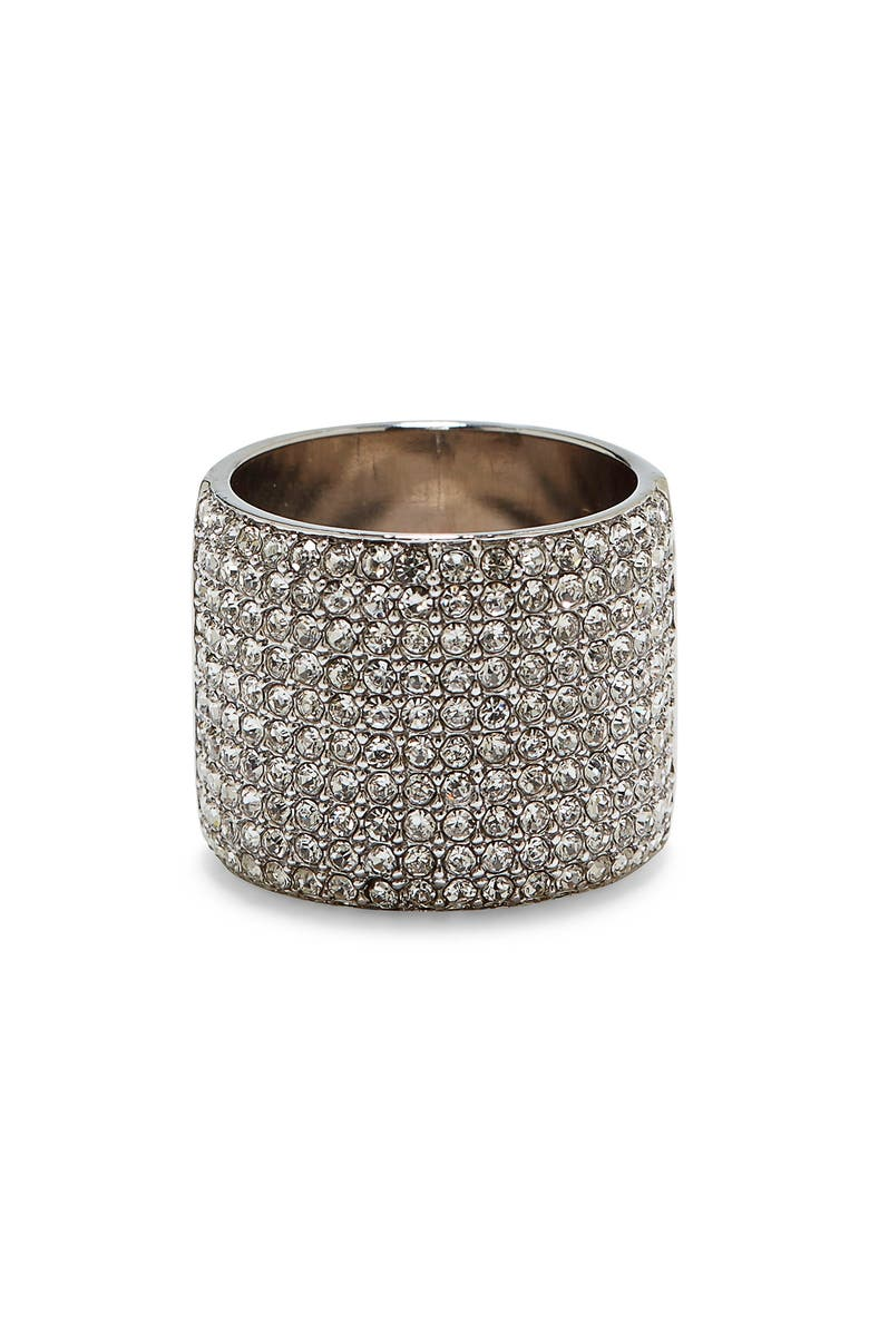 VINCE CAMUTO Pavé Cigar Band Ring, Main, color, SILVER
