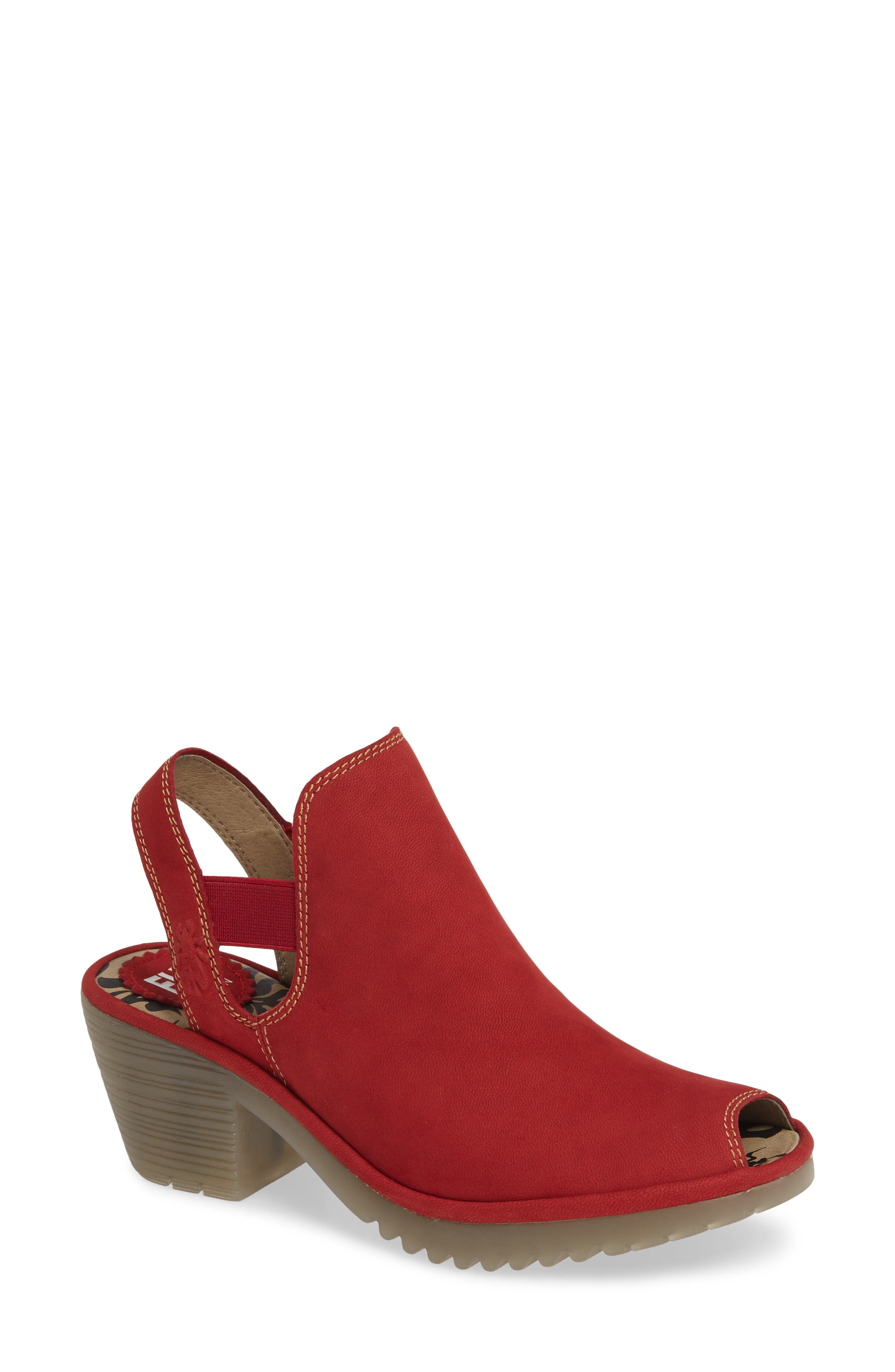 Fly London Wari Slingback Bootie, Red