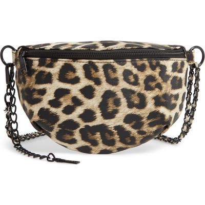Steve Madden Animal Print Convertible Belt Bag - Brown