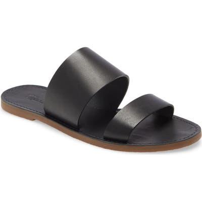 Madewell The Boardwalk Double Strap Slide Sandal, Black