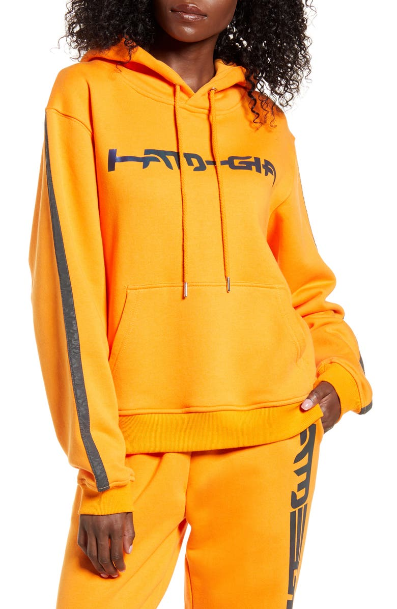 I.AM.GIA Zandra Logo Cotton Hoodie, Main, color, 800
