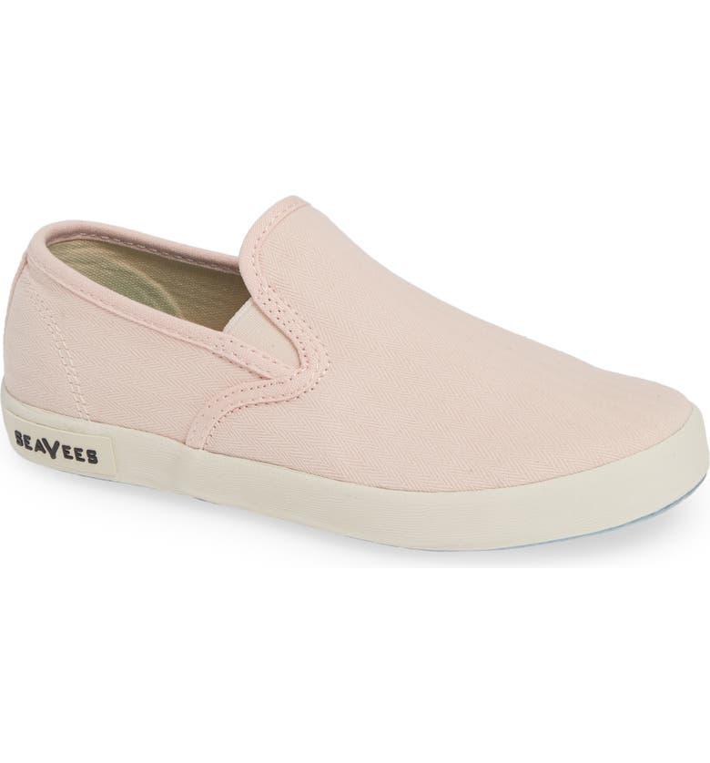 SEAVEES Baja Standard Slip-On Sneaker, Main, color, PALE PINK TWILL