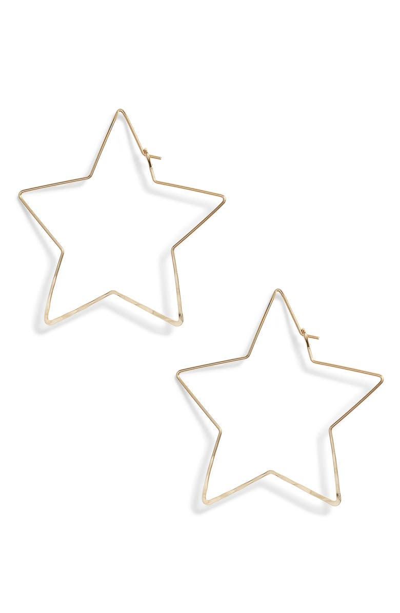 BRACHA Starstruck Earrings, Main, color, GOLD