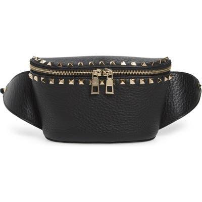 Valentino Garavani Rockstud Leather Belt Bag - Black