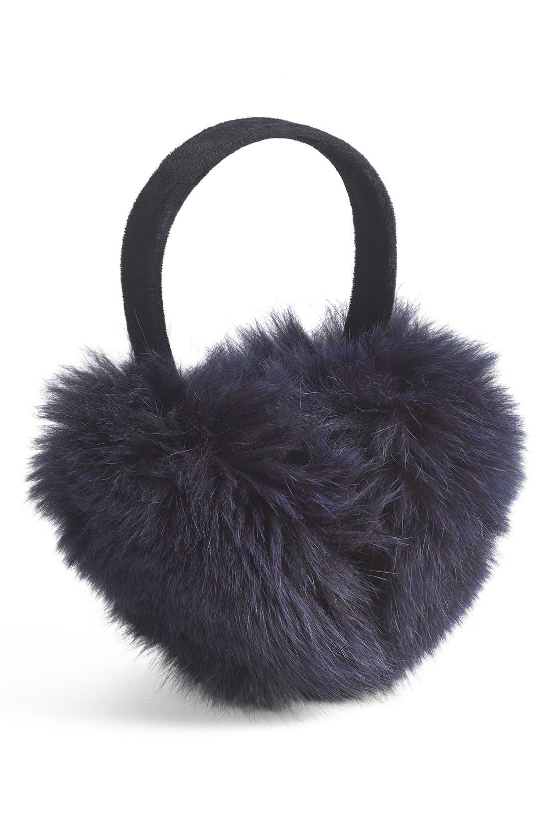 ,                             Genuine Fox Fur Earmuffs,                             Main thumbnail 14, color,                             410