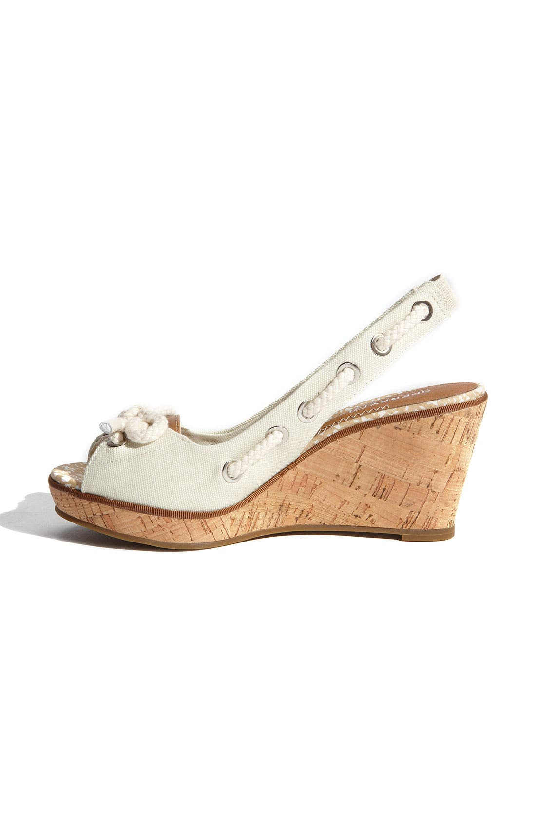 ,                             Top-Sider<sup>®</sup> 'Southport' Slingback Wedge,                             Alternate thumbnail 8, color,                             100