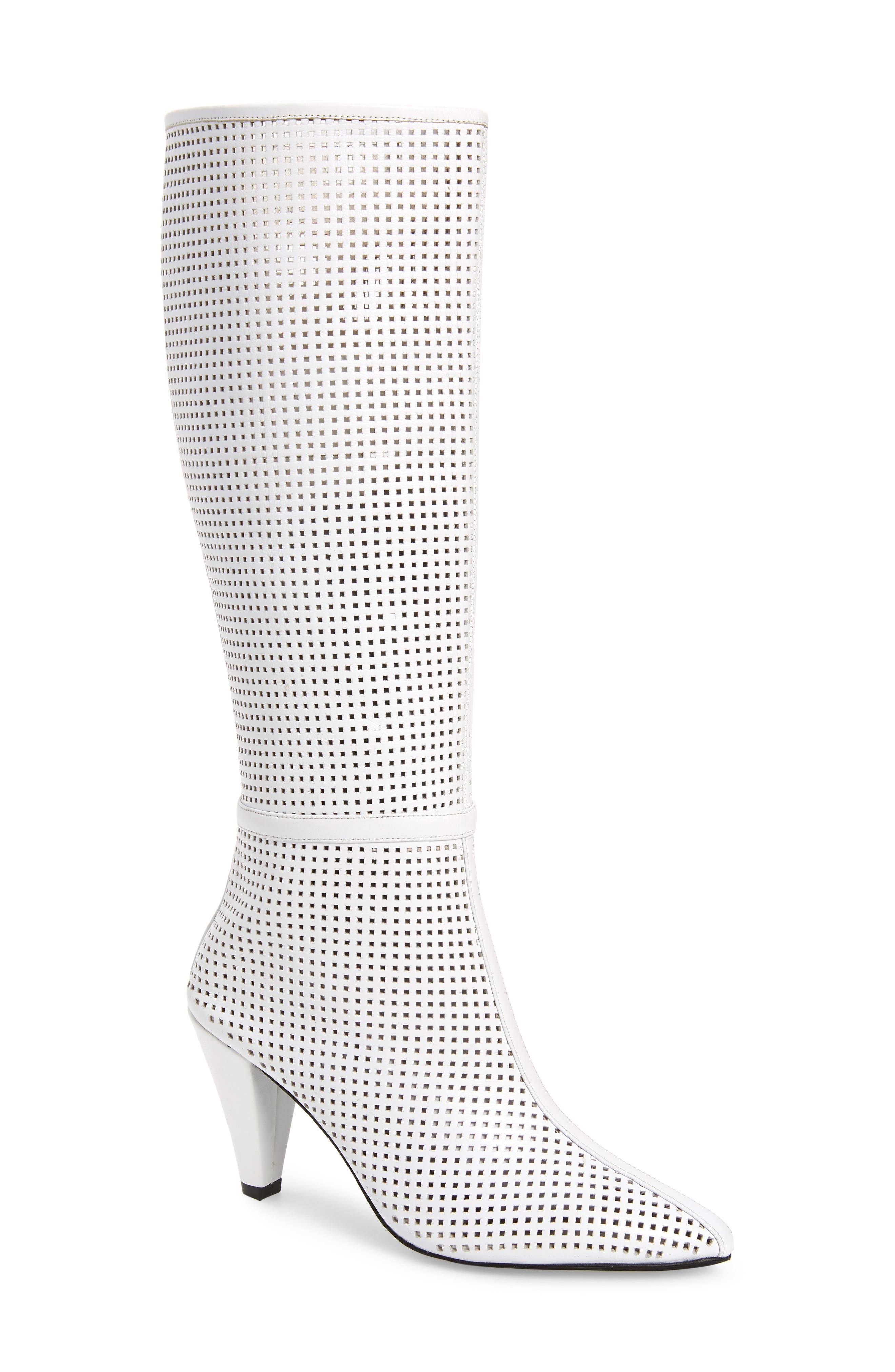 Jeffrey Campbell Candle Knee High Boot, White