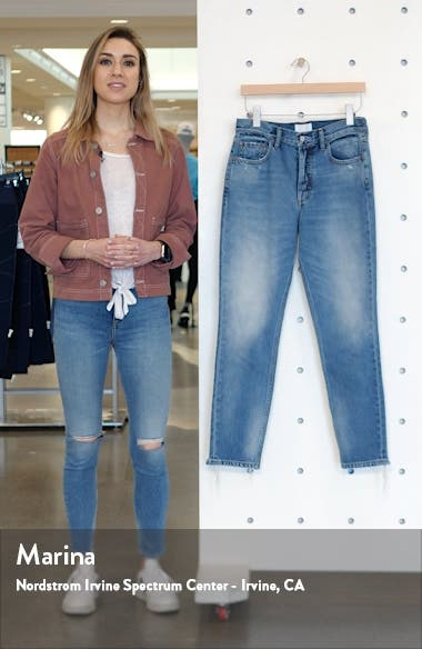 The Billy High Waist Distressed Nonstretch Jeans, sales video thumbnail