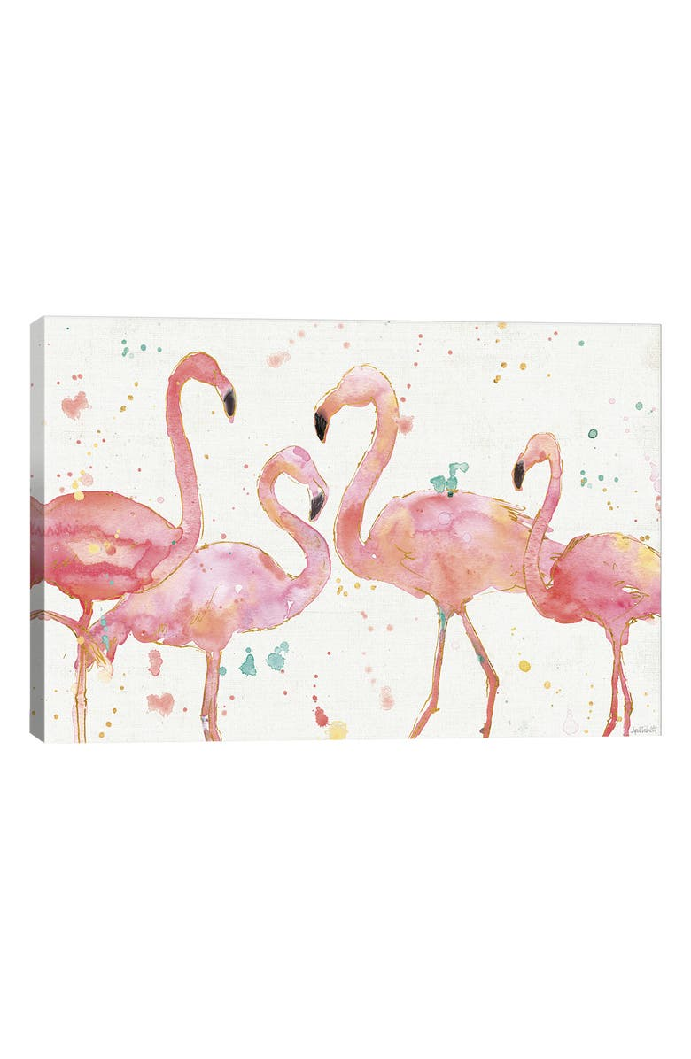 ICANVAS Flamingo Fever by Anne Tavoletti Giclée Print Canvas Art, Main, color, WHITE