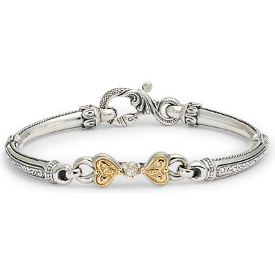 Konstantino Hermione Silver & Gold Bracelet With Diamond