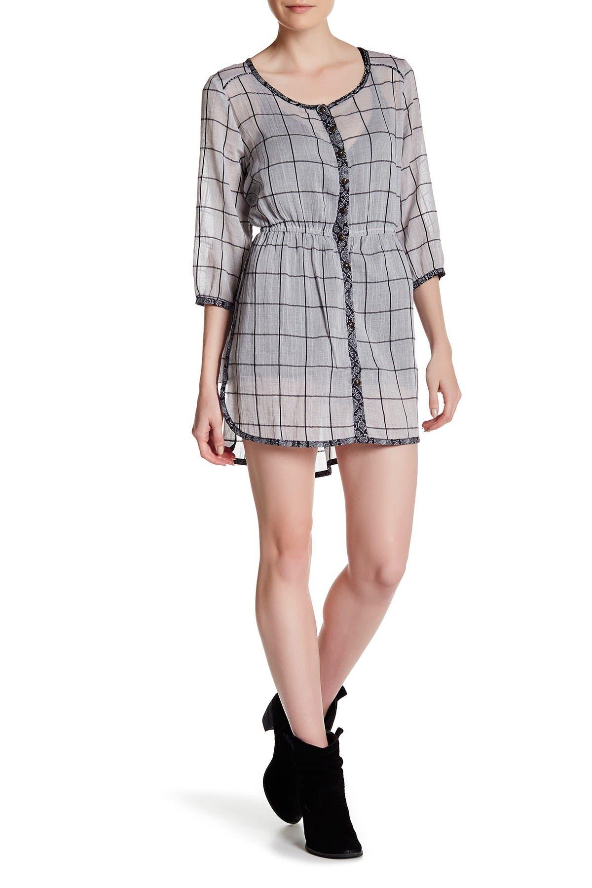 Image of ARATTA Ines Windowpane Shirt Dress