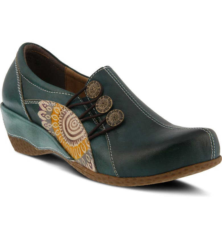L'ARTISTE Agacia Slip-On, Main, color, TEAL LEATHER