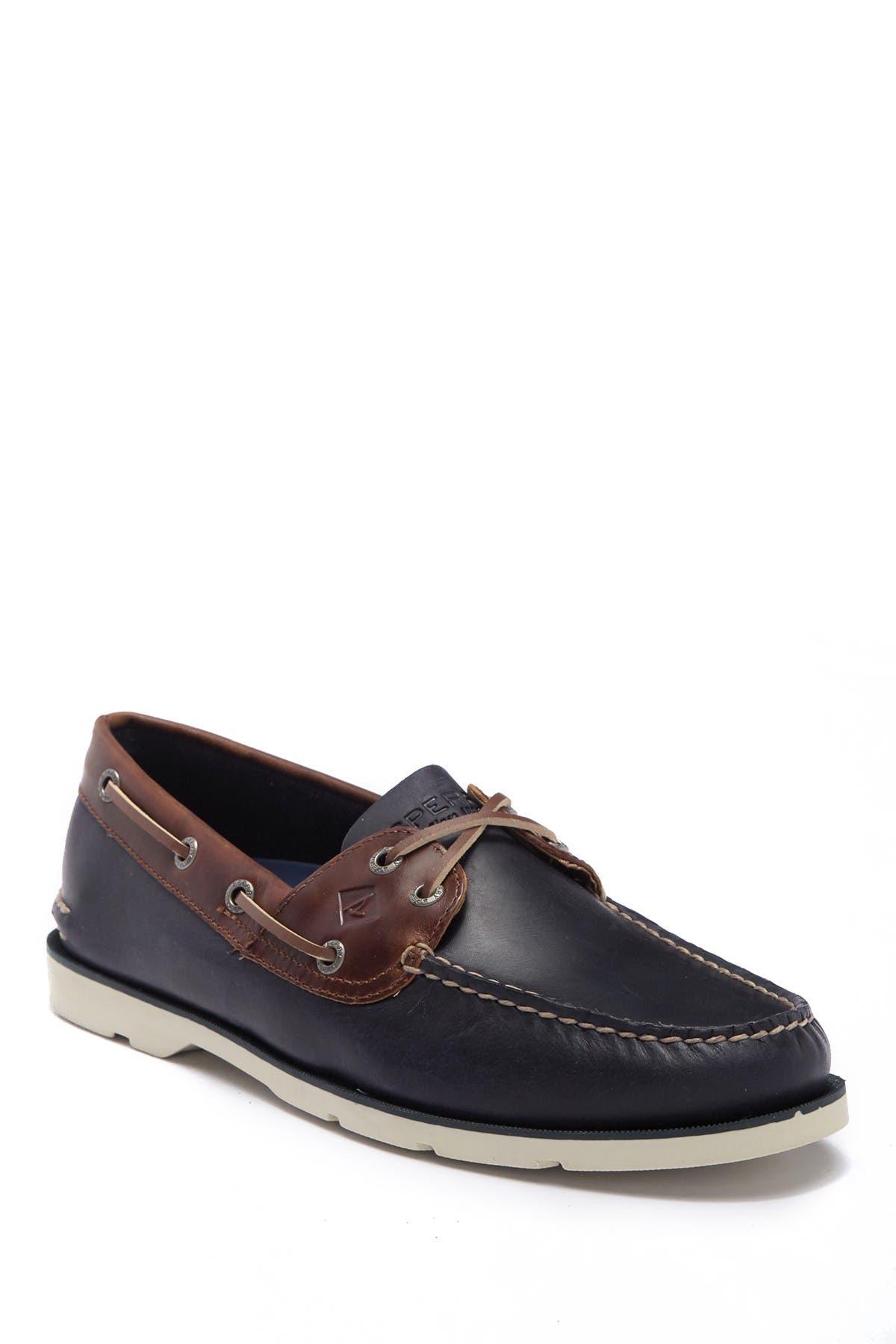 Leeward 2-Eye Leather Yacht Boat Shoe