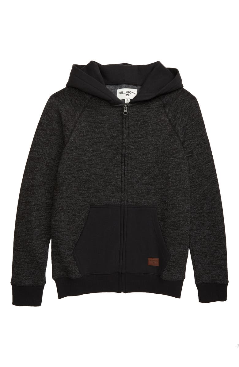 BILLABONG Balance Zip Hoodie, Main, color, BLACK