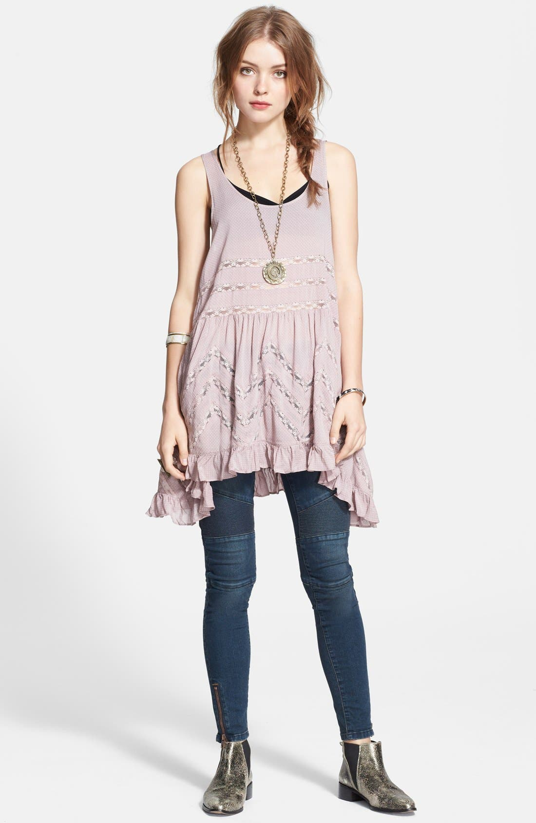 Image of Free People Swingy Lace Inset Tunic