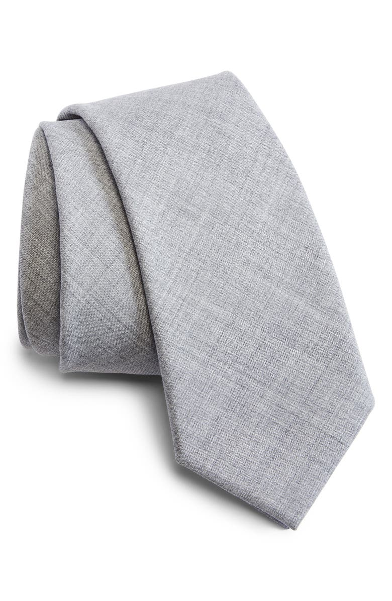 BRUNELLO CUCINELLI Rustic Wool Tie, Main, color, 030