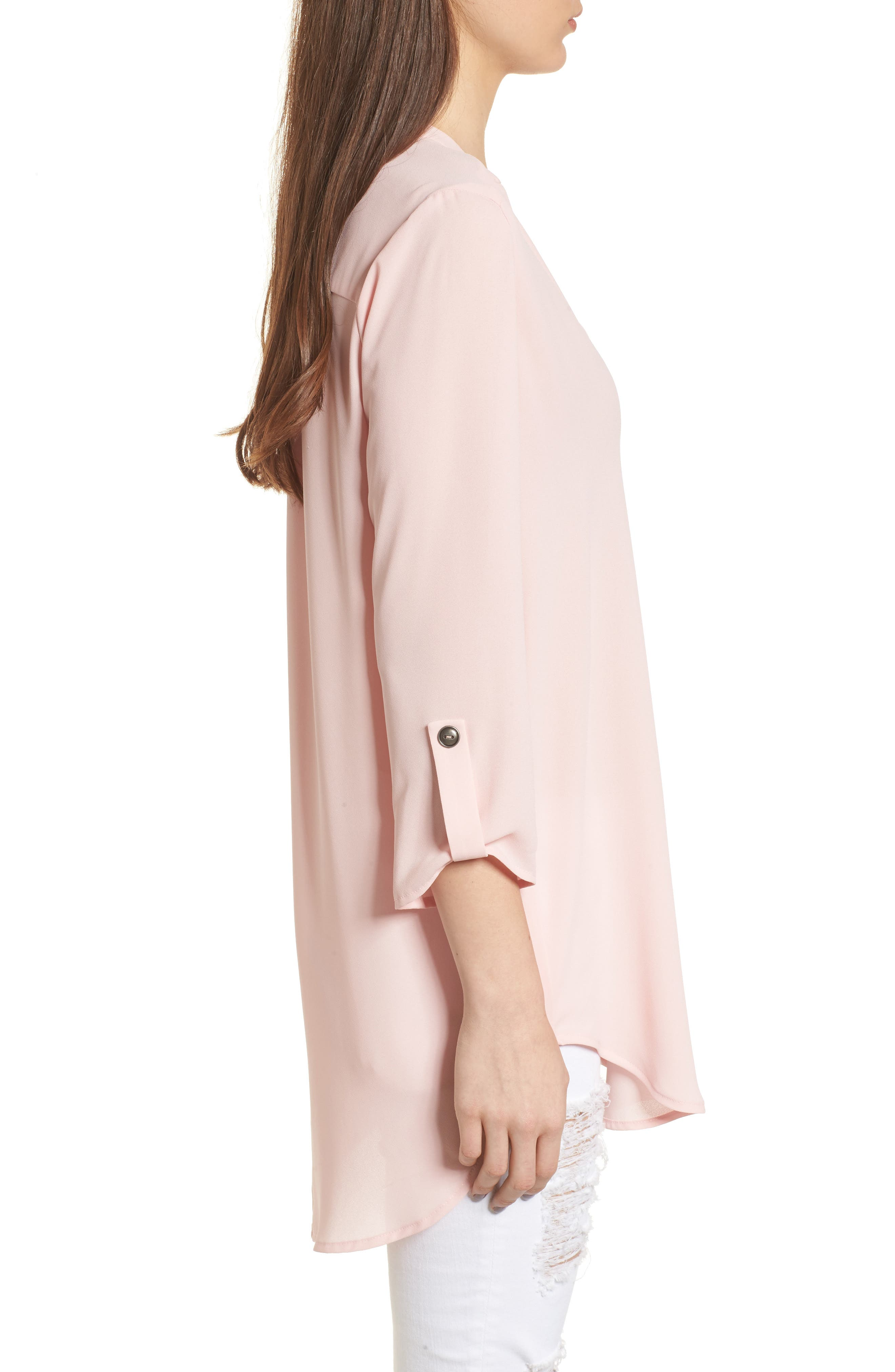 ,                             Perfect Roll Tab Sleeve Tunic,                             Alternate thumbnail 144, color,                             657