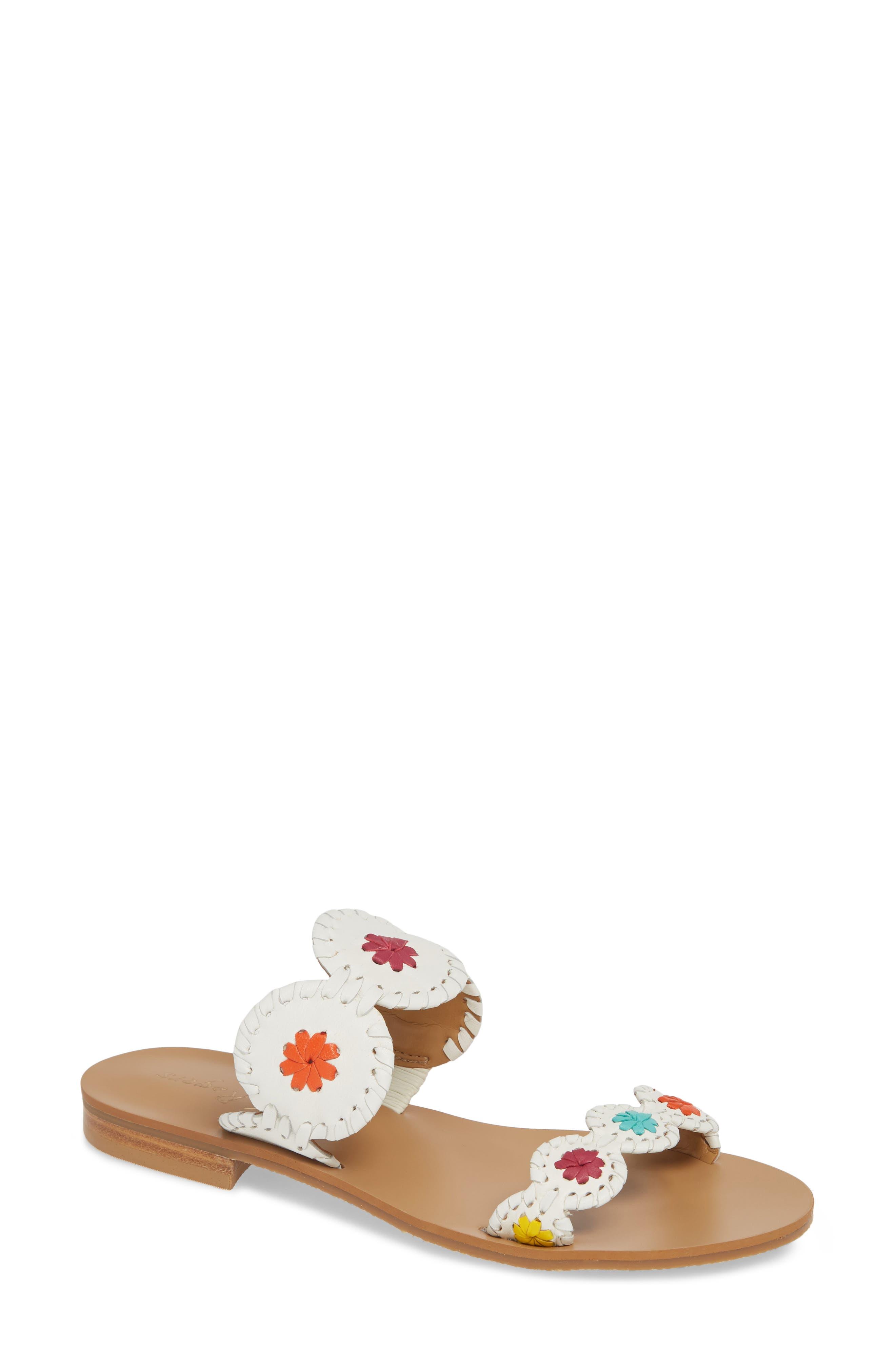 'Lauren' Sandal, Main, color, WHITE MULTI LEATHER