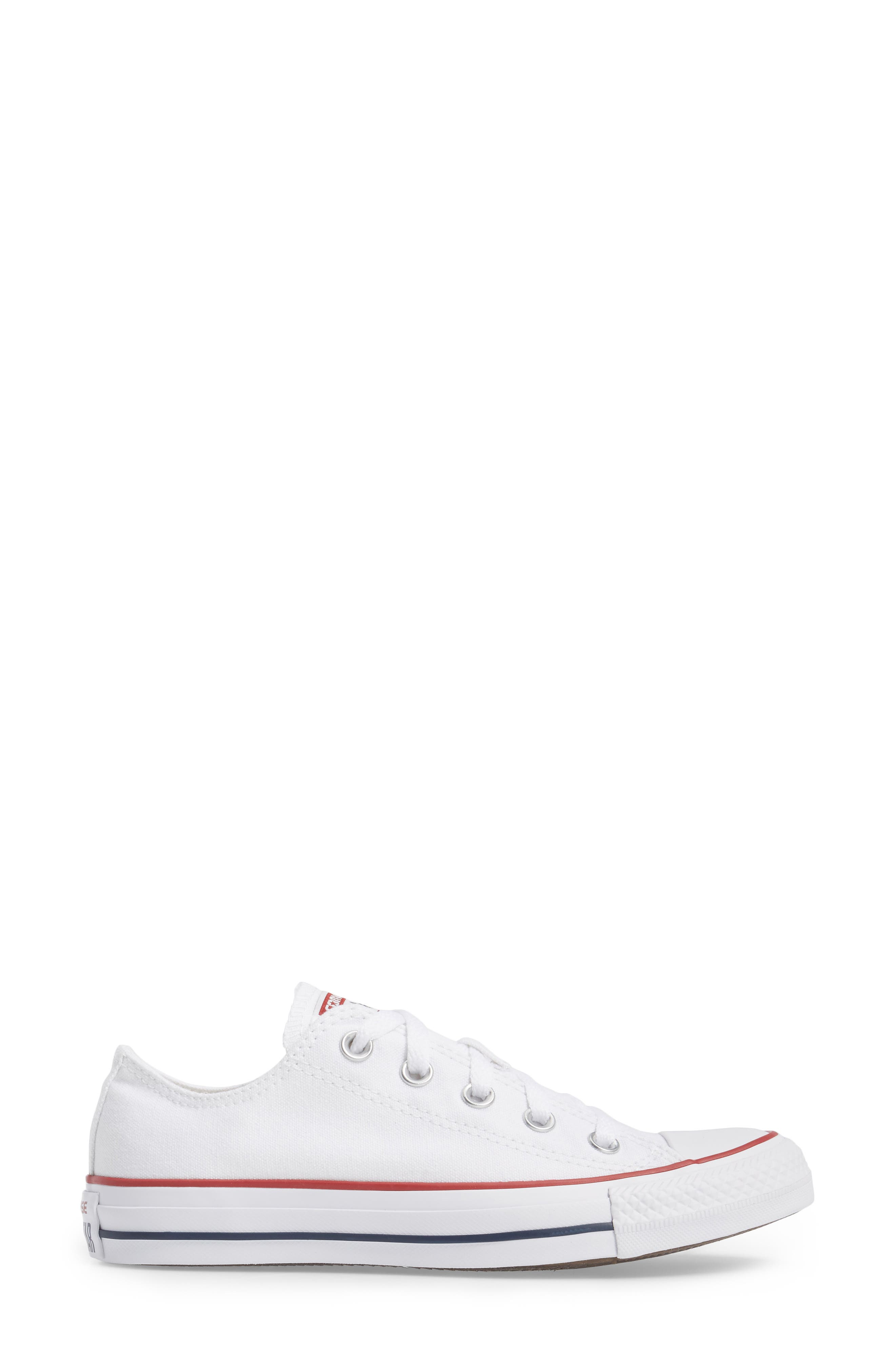 ,                             Chuck Taylor<sup>®</sup> Low Top Sneaker,                             Alternate thumbnail 4, color,                             OPTIC WHITE