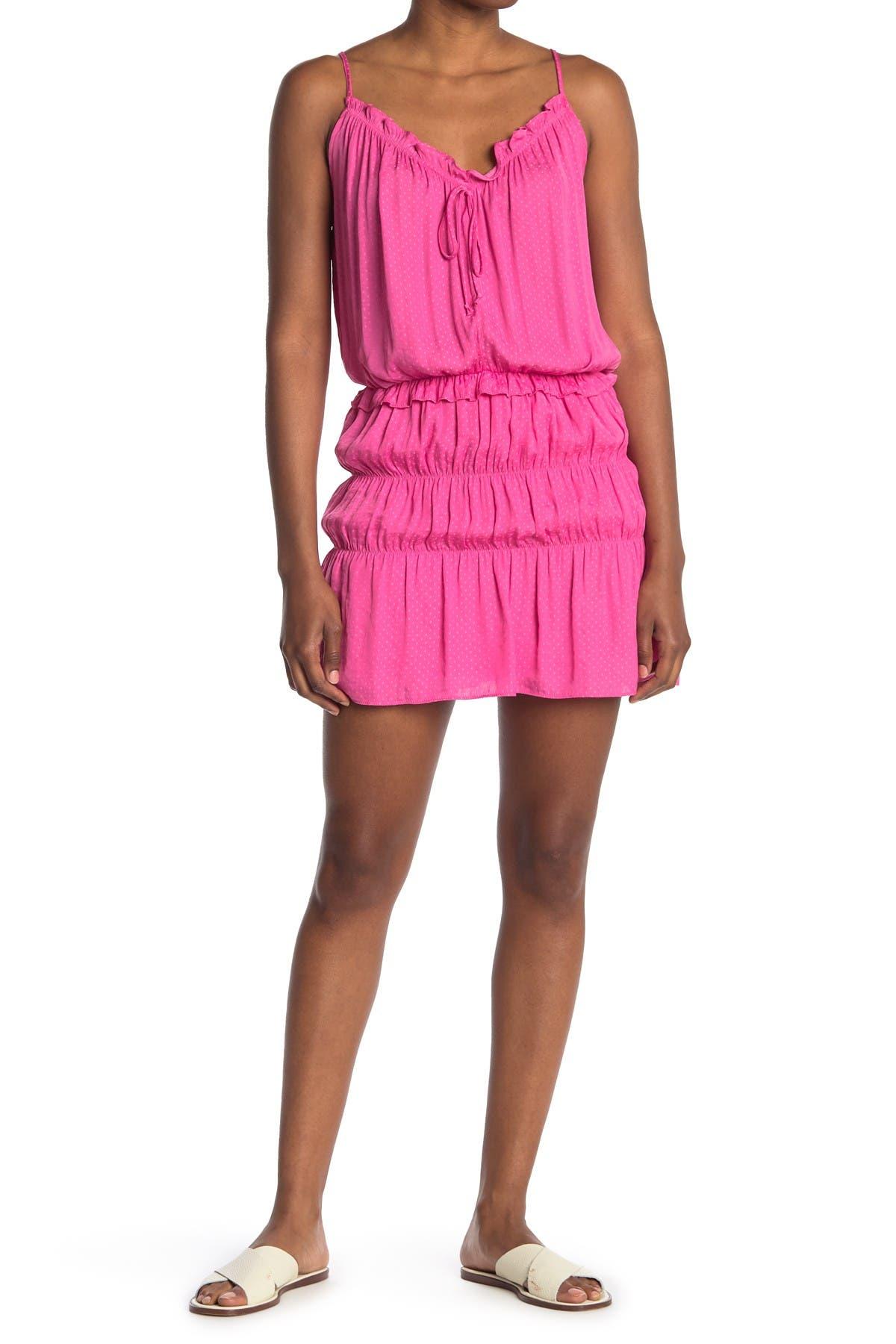 Image of NSR Zoe Dot Jacquard Dress
