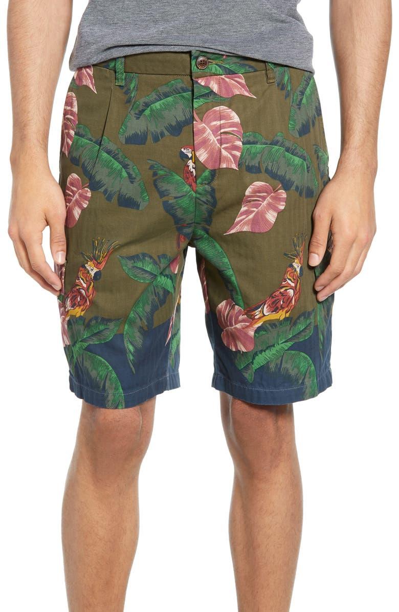 SCOTCH & SODA Tropical Print Cargo Shorts, Main, color, 301