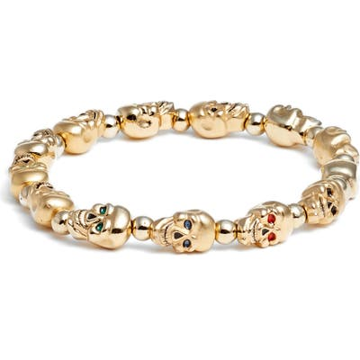 Erwin Pearl Lucky Skulls Stretch Bracelet