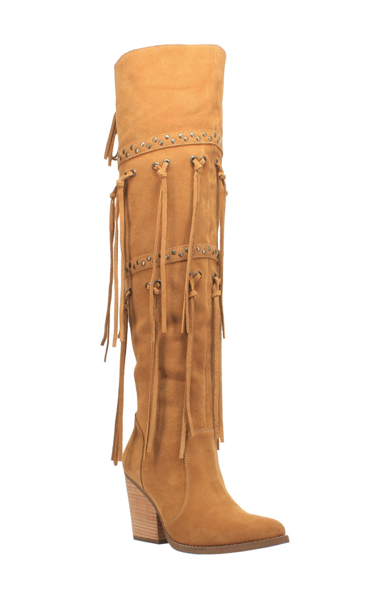 Witchy Woman Fringe Over The Knee Boot