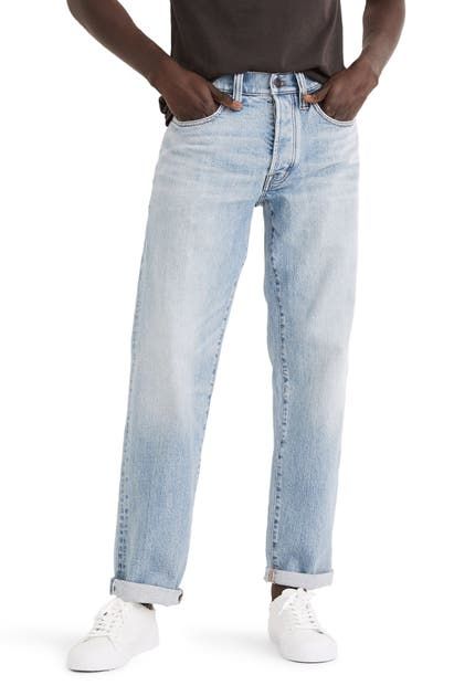 Madewell RELAXED STRAIGHT AUTHENTIC FLEX SELVEDGE JEANS