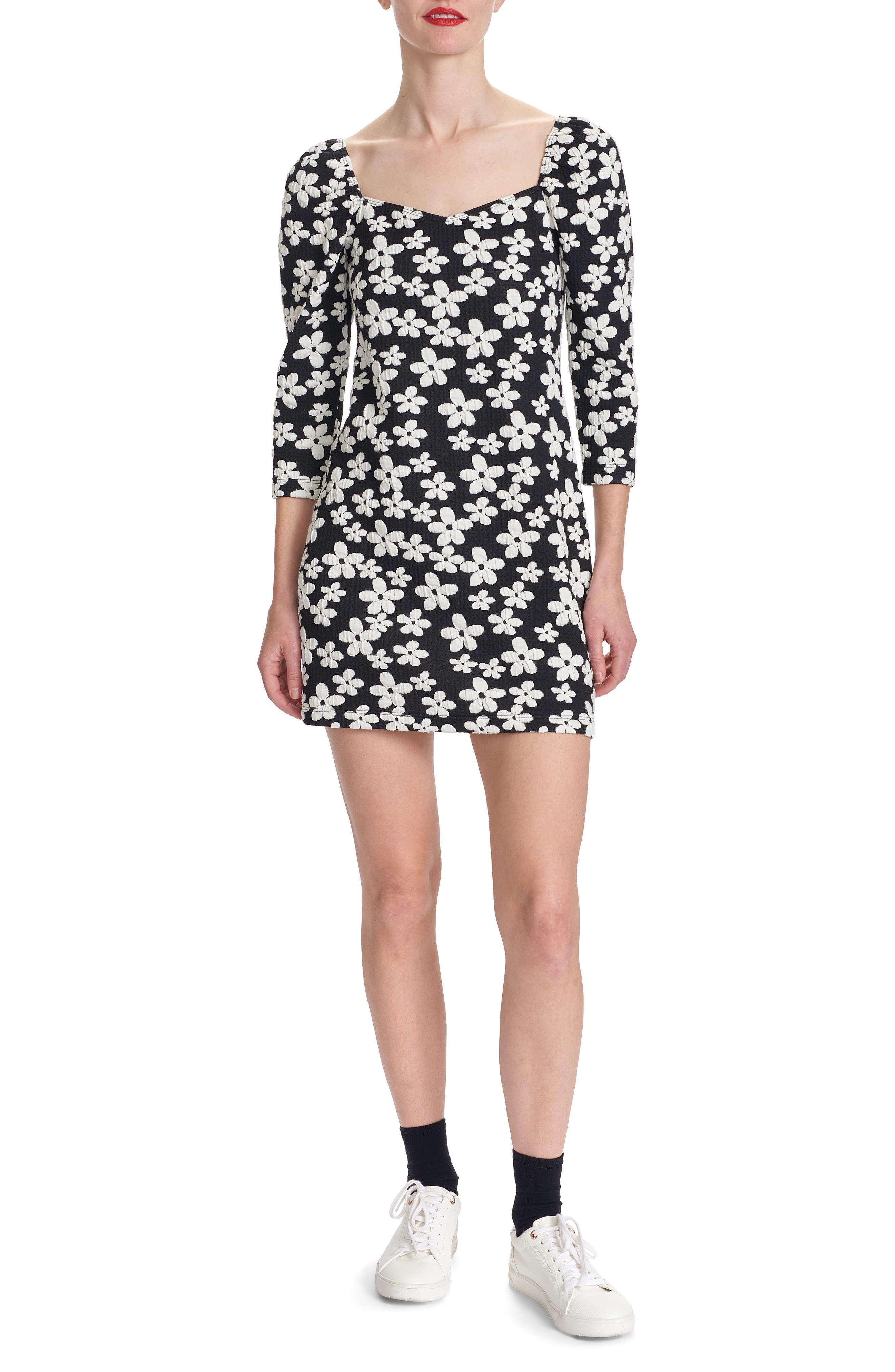 Jelissa Printed Long Sleeve Minidress