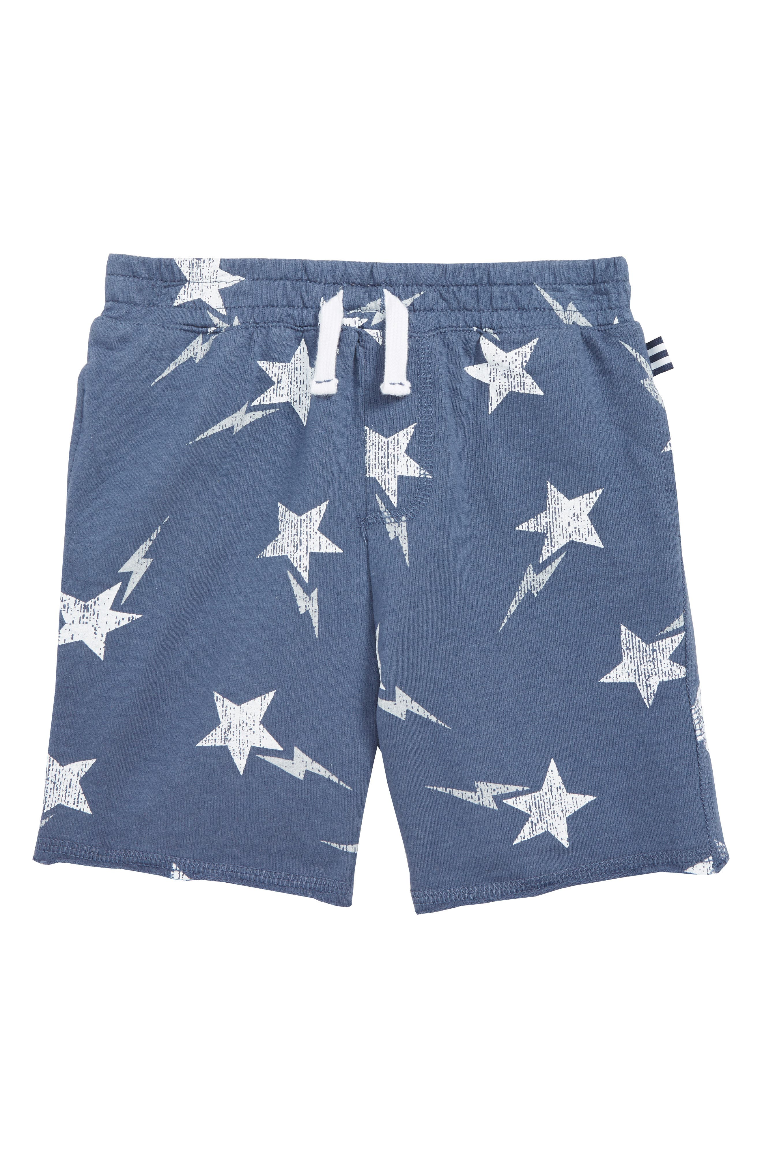 Galaxy French Terry Shorts, Main, color, RAVEN BLUE