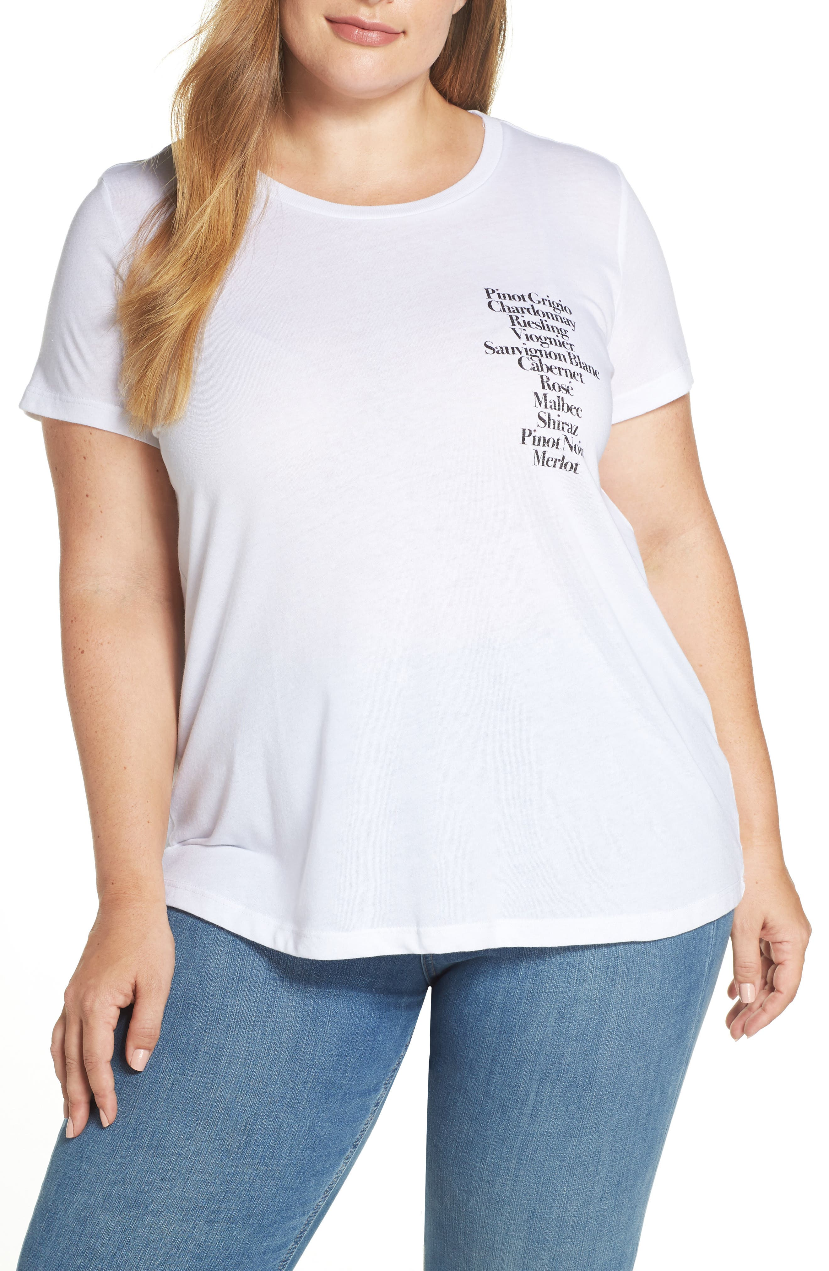 ,                             Wine List Tee,                             Main thumbnail 1, color,                             WHITE
