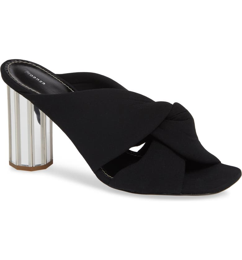 PROENZA SCHOULER Knotted Slide Sandal, Main, color, 001