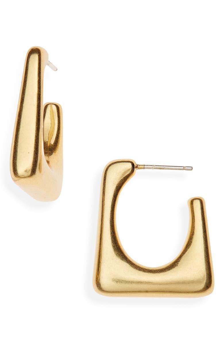 MADEWELL Modern Geometry Hoop Earrings, Main, color, 710