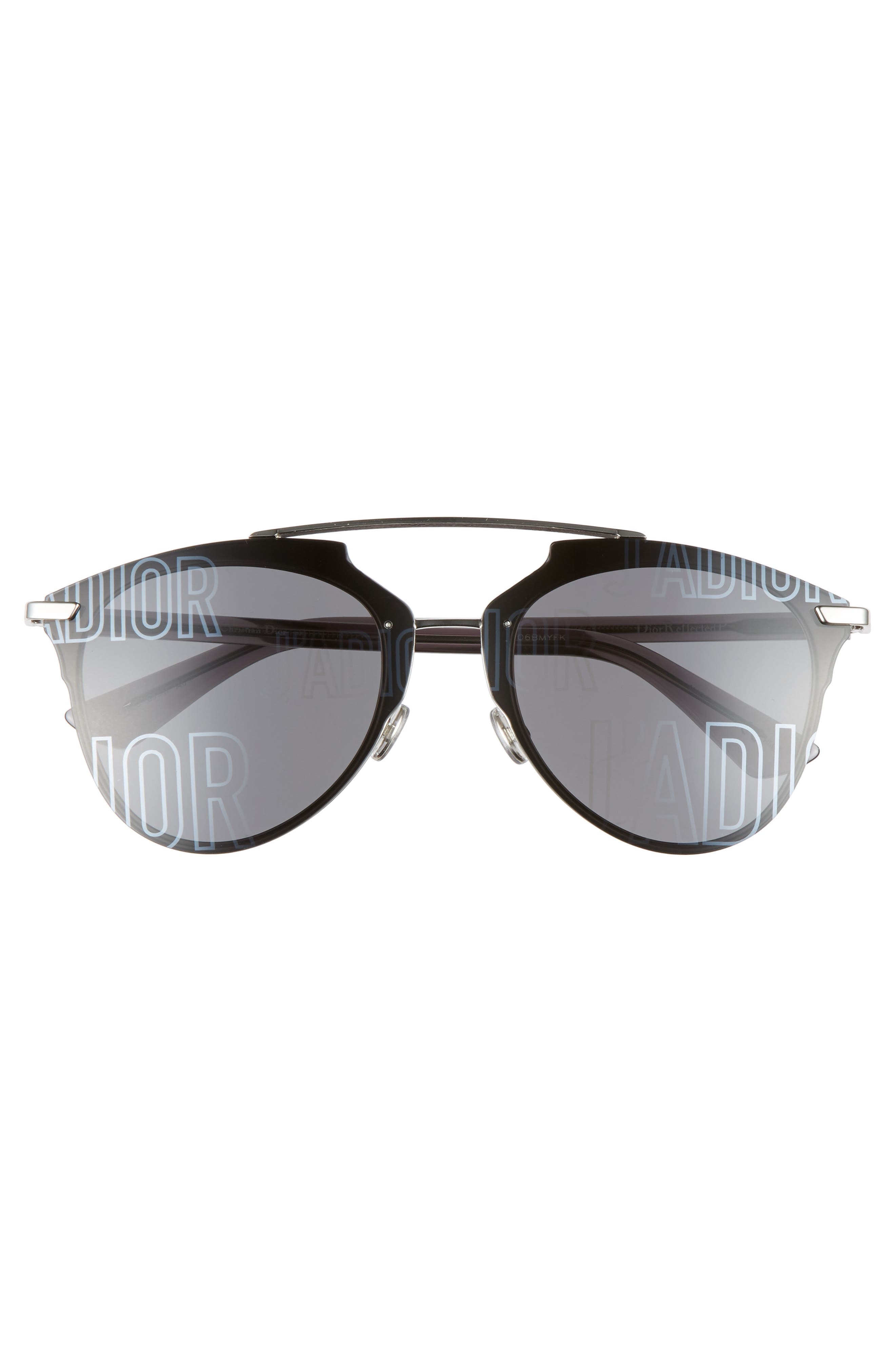 ,                             Reflected Prism 63mm Oversize Mirrored Brow Bar Sunglasses,                             Alternate thumbnail 3, color,                             047