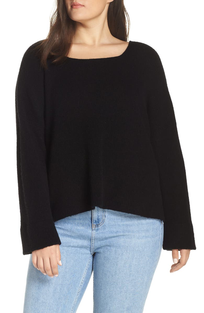 MADEWELL Square Neck Pullover Sweater, Main, color, 002