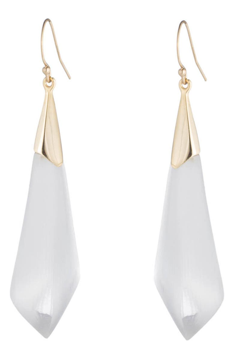 ALEXIS BITTAR Essentials Faceted Drop Earrings, Main, color, SILVER