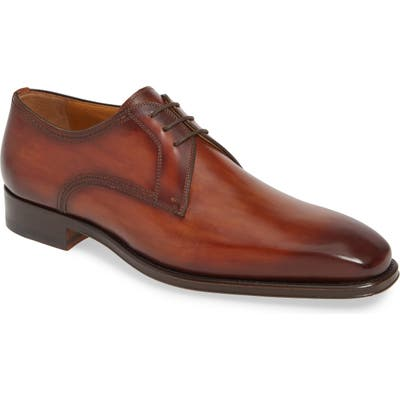Magnanni Leon Plain Toe Derby- Brown