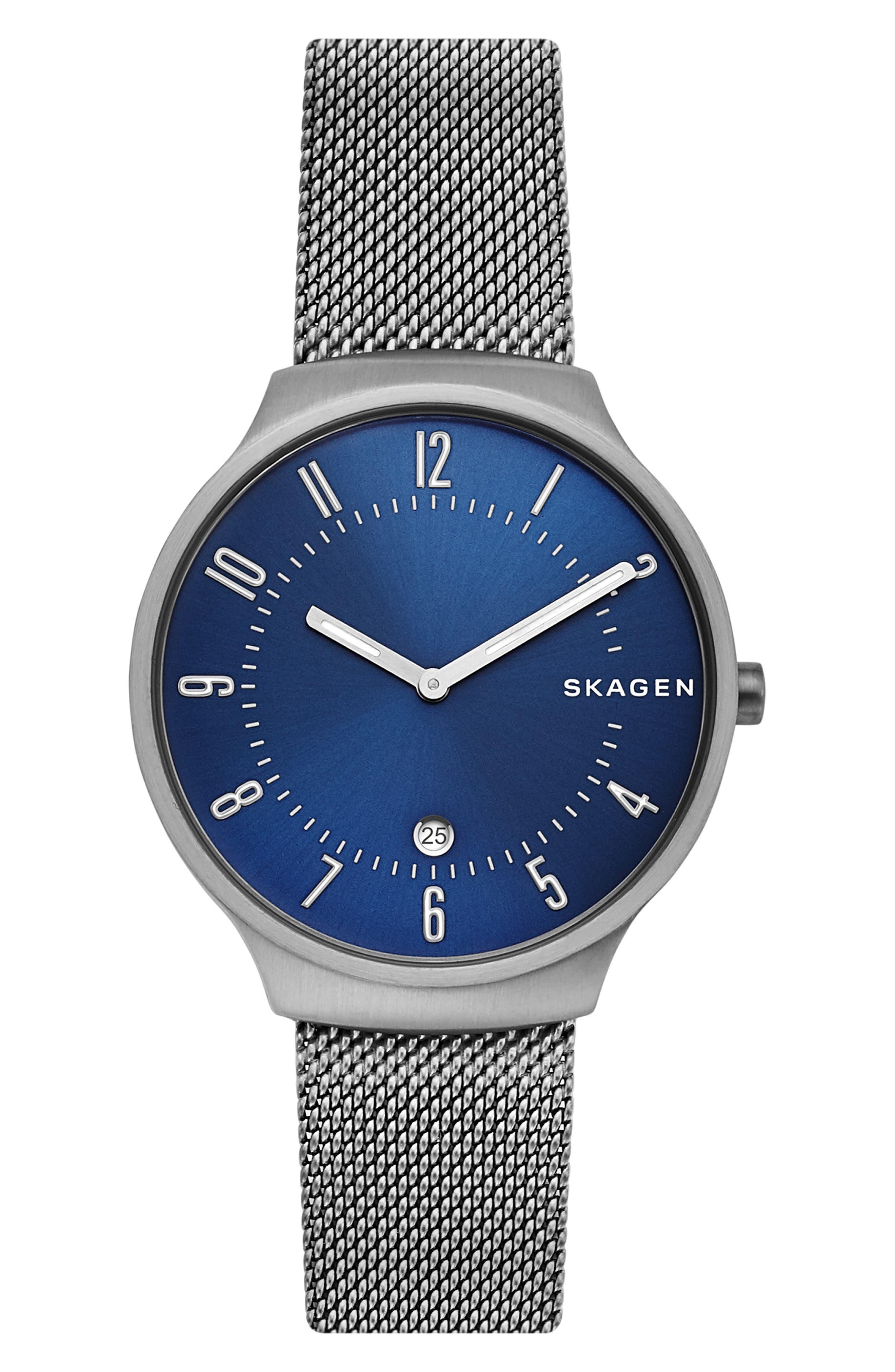 men's skagen grenen mesh strap watch, 38mm