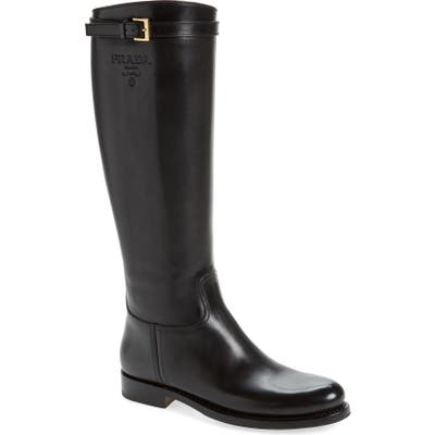 Prada Novo Knee High Boot, Black