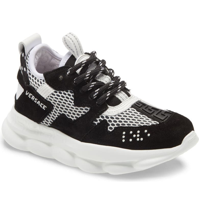 VERSACE FIRST LINE Chain Reaction Sneaker, Main, color, 001