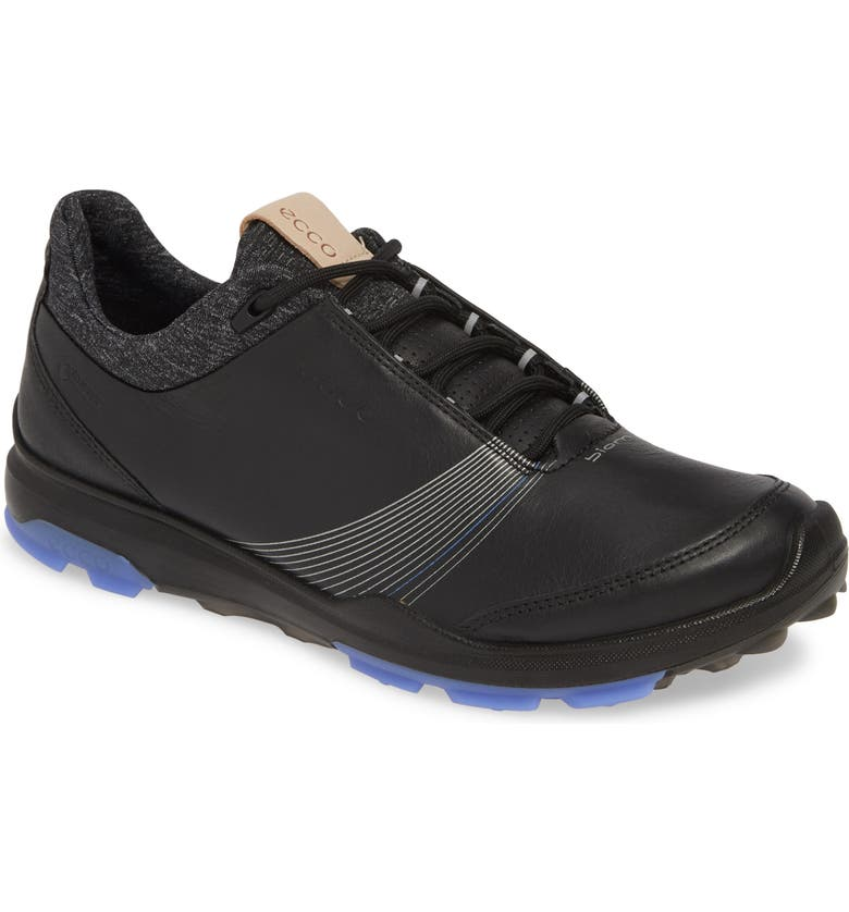 ECCO BIOM Hybrid 3 GTX Golf Shoe, Main, color, BLACK/ BLACK LEATHER