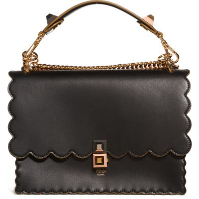 Fendi Kan I Scallop Leather Shoulder Bag -