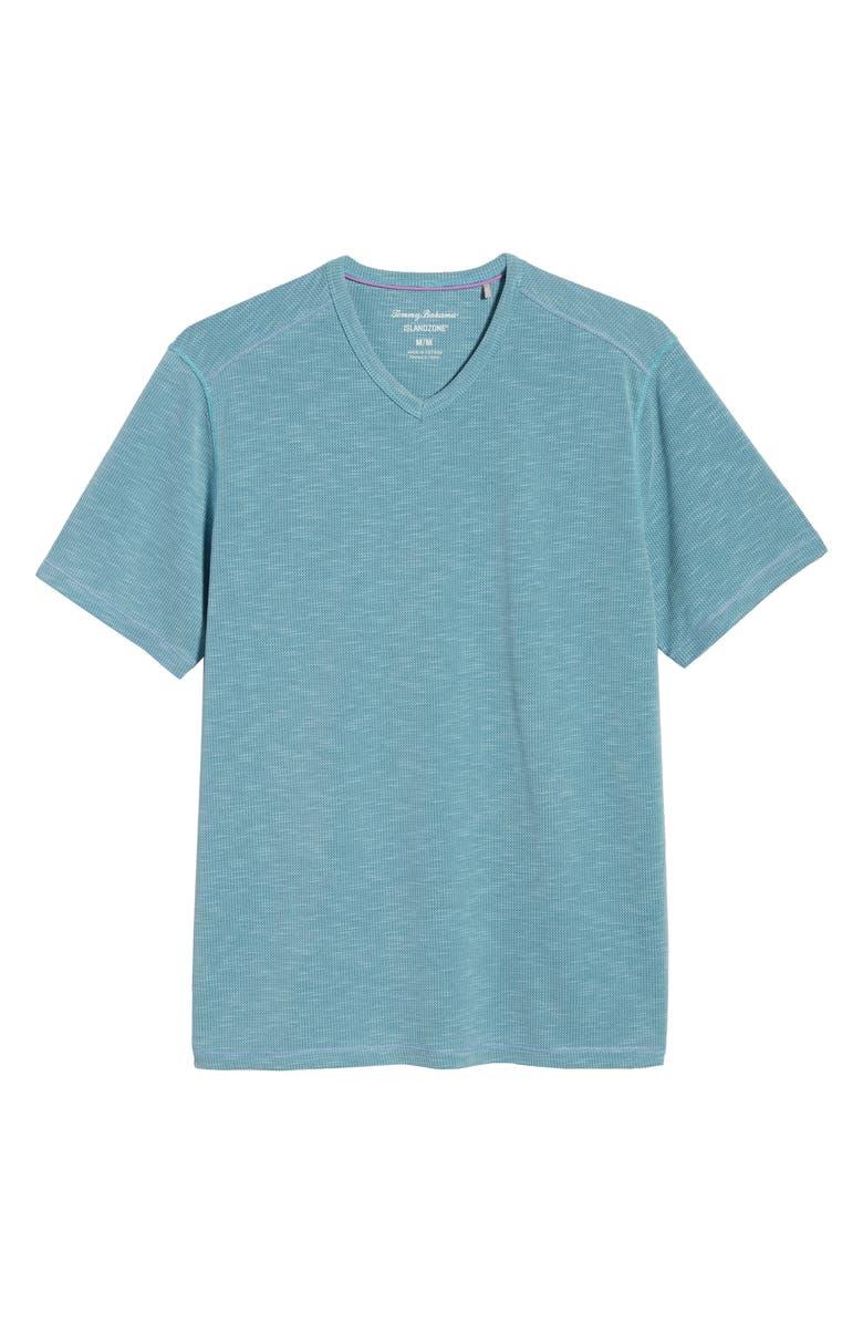 TOMMY BAHAMA Tropicool Paradise V-Neck T-Shirt, Main, color, ANCHOR