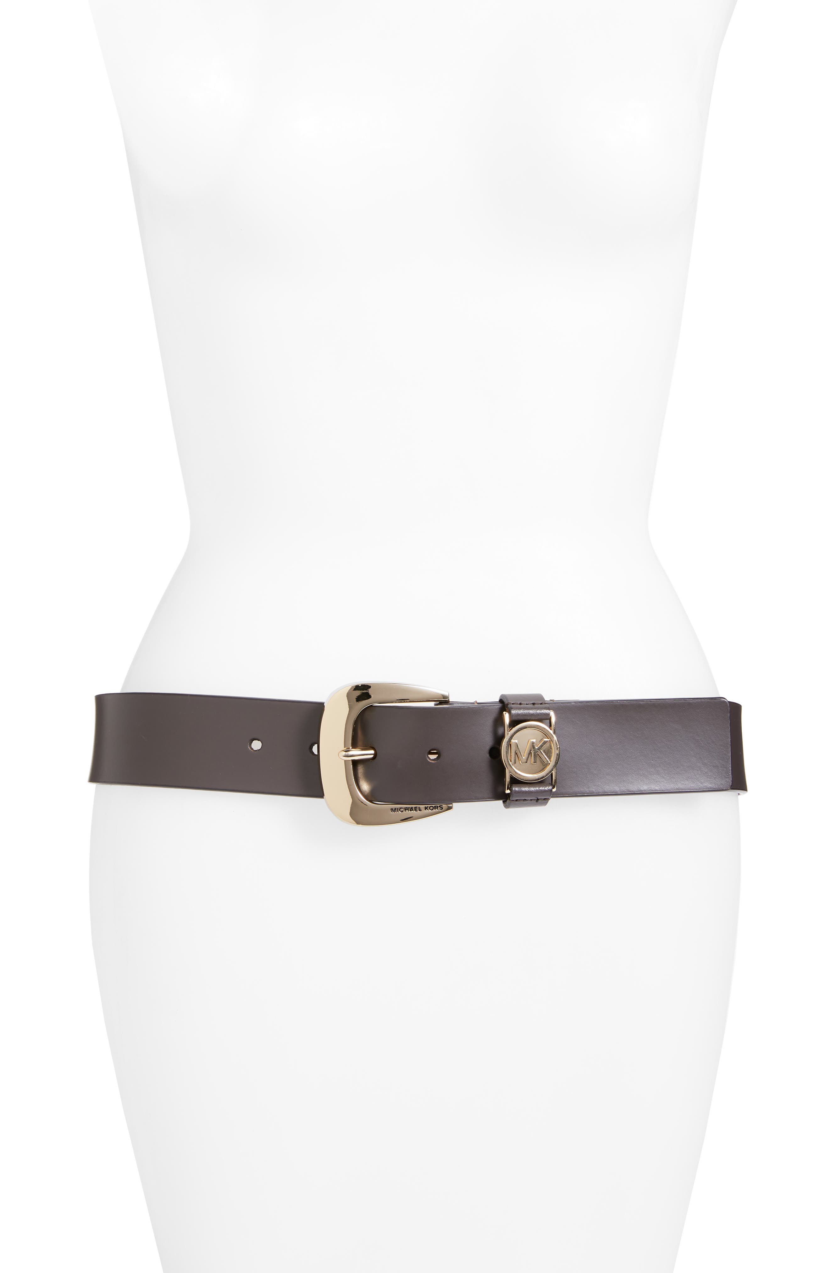 ,                             Calfskin Leather Belt,                             Main thumbnail 4, color,                             237