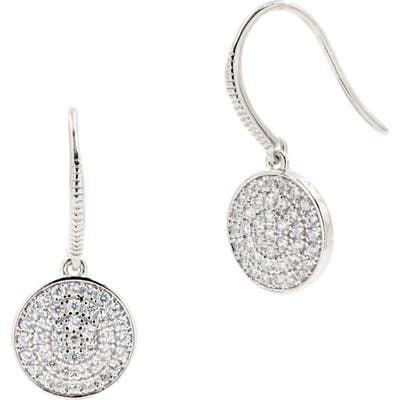 Freida Rothman Radiance Pave Disc Drop Earrings
