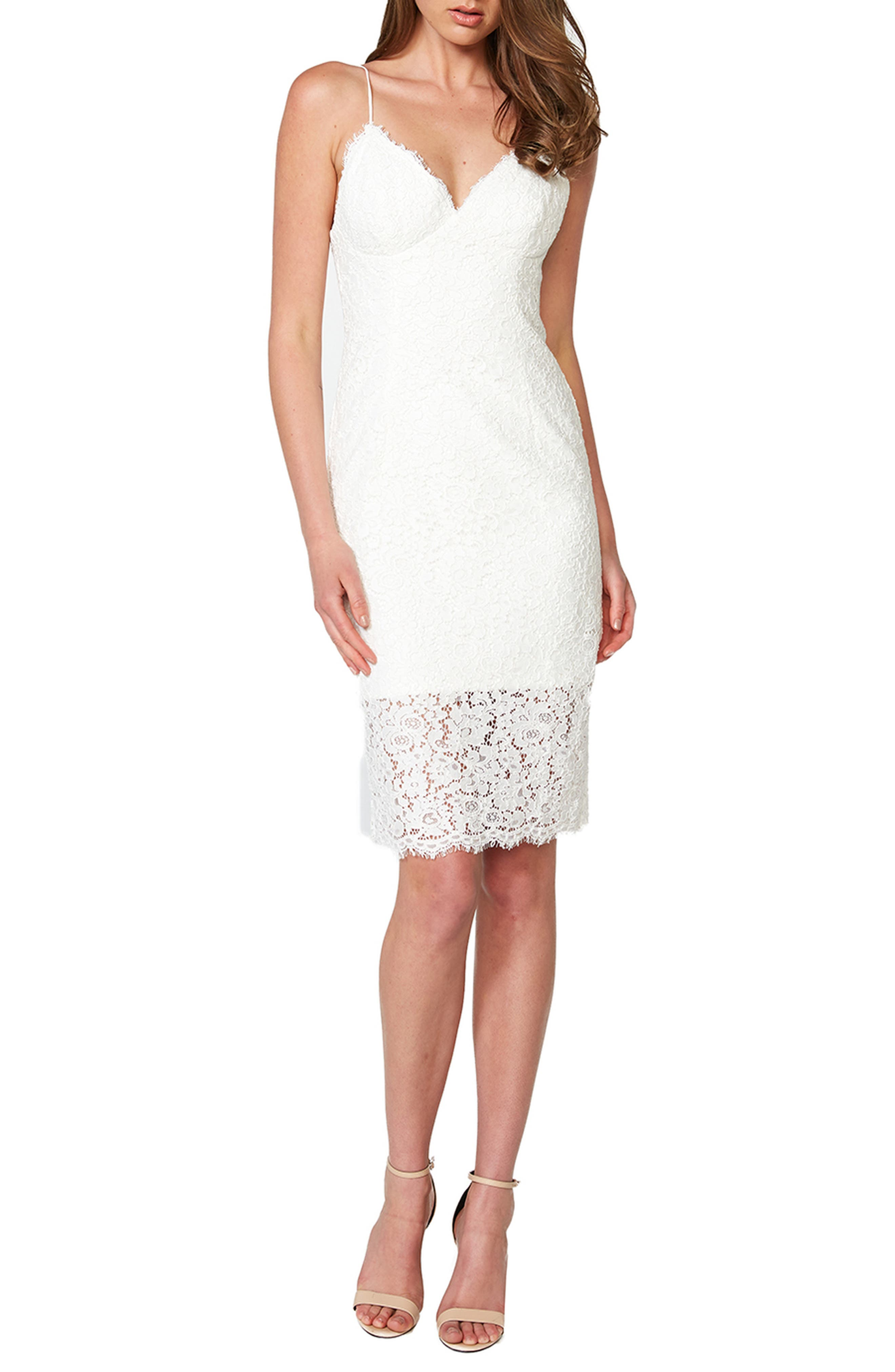 Image of Bardot Sienna Lace Cocktail Dress