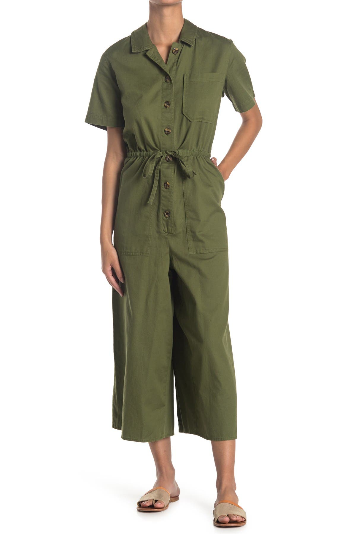 Image of Madewell Wide Leg Utility Jumpsuit