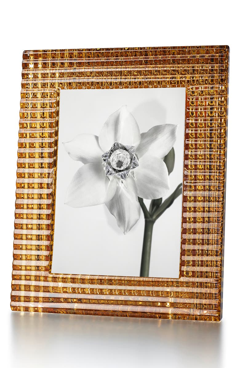 BACCARAT Eye Gold & Lead Crystal Picture Frame, Main, color, GOLD